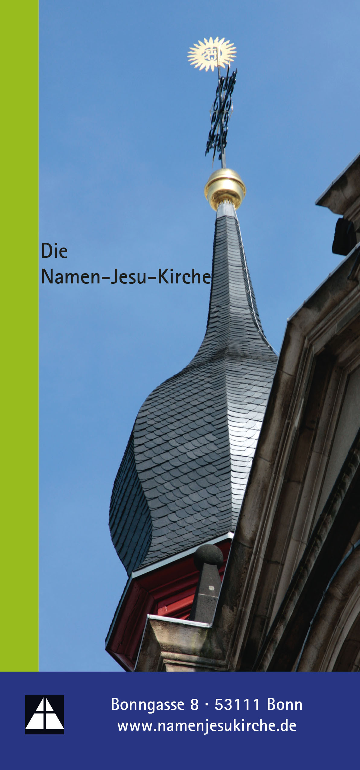 Broschüre über die Namen-Jesu-Kirche