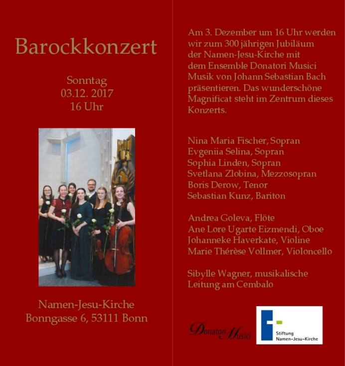 Barock Konzert Namen-Jesu-Kirche 03.12.