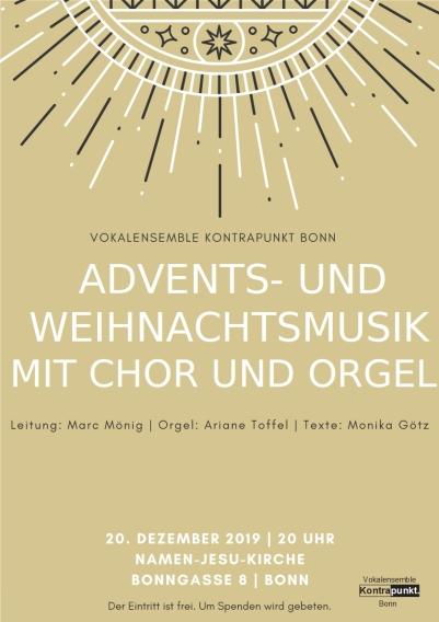 Weihnachtskonzert 2019-Vokalensemble Kontrapunkt am 20-12-2019